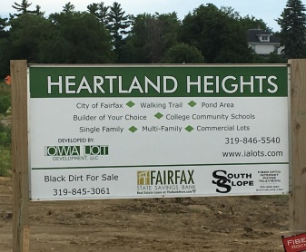 Photo of Heartland Heights Entrance Sign