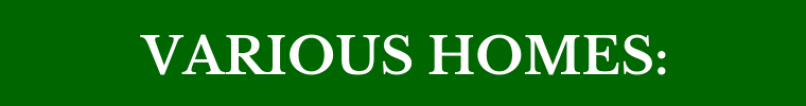 Various Homes Banner